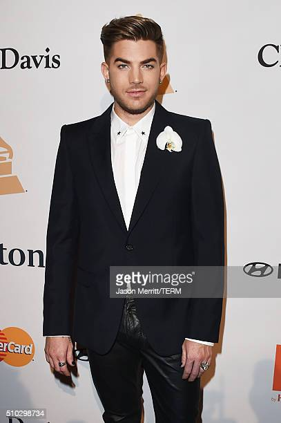 Singer Adam Lambert attends the 2016 PreGRAMMY Gala and Salute to Industry Icons honoring Irving Azoff at The Beverly Hilton Hotel on February 14...