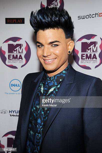 Singer Adam Lambert attends the MTV Europe Music Awards 2011 at the Odyssey Arena on November 6 2011 in Belfast Northern Ireland