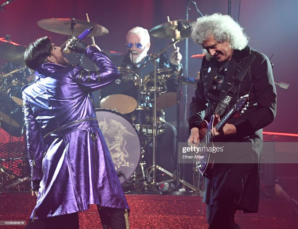 "Queen + Adam Lambert Kick Off ""The Crown Jewels"" At Park MGM : News Photo"