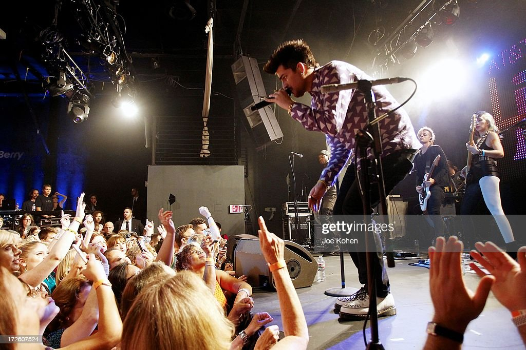 "Adam Lambert Performance And Check Donation Presentation To The Trevor Project For ""Live Proud"" Campaign"