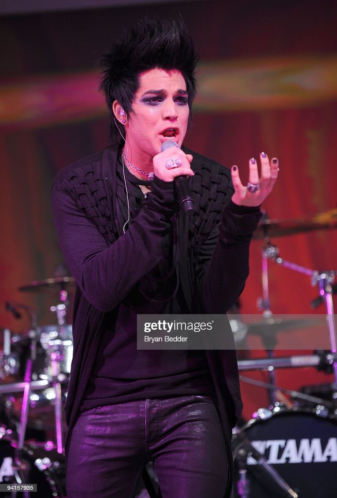 Singer Adam Lambert performs onstage at the launch of VEVO, the world's premiere destination for premium music video and entertainmentat Skylight Studio on December 8, 2009 in New York City.