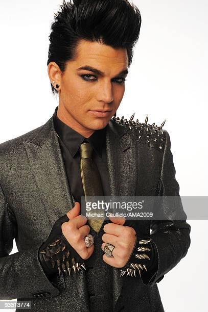 Singer Adam Lambert poses for a portrait at the 2009 American Music Awards at Nokia Theatre LA Live on November 22 2009 in Los Angeles California