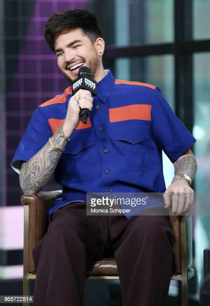 Singer Adam Lambert visits Build Studio to discuss his upcoming Las Vegas residency with Queen on May 7 2018 in New York City