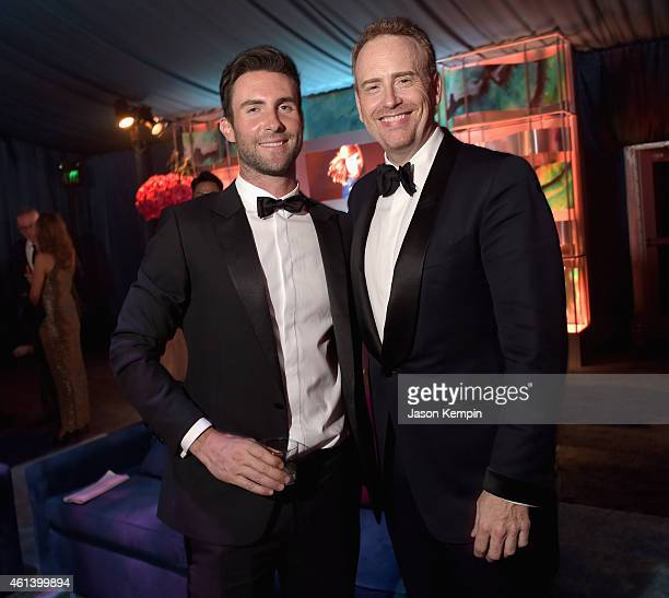 Singer Adam Levine and Chairman of NBC Entertainment Robert Bob Greenblatt attend Universal NBC Focus Features and E Entertainment 2015 Golden Globe...