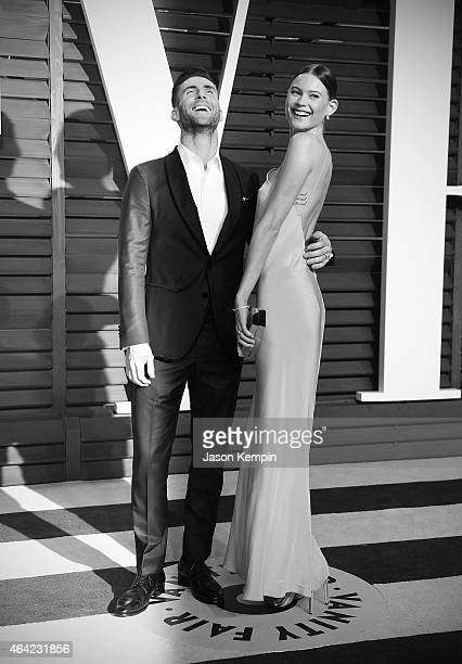 Singer Adam Levine and wife Behati Prinsloo attend the 2015 Vanity Fair Oscar Party at Wallis Annenberg Center for the Performing Arts on February 22...