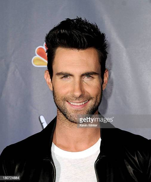 Singer Adam Levine arrives at a press junket for NBC's The Voice at Sony Studios on October 28 2011 in Culver City California