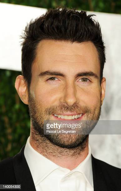 Singer Adam Levine arrives at the 2012 Vanity Fair Oscar Party hosted by Graydon Carter at Sunset Tower on February 26 2012 in West Hollywood...
