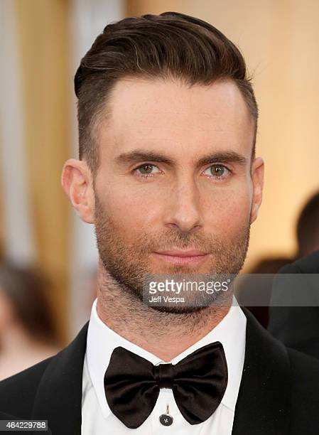 Singer Adam Levine arrives at the 87th Annual Academy Awards at Hollywood Highland Center on February 22 2015 in Los Angeles California