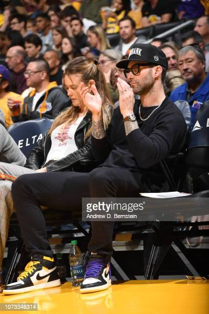 Singer Adam Levine attends a game between Phoenix Suns and Los Angeles Lakers on December 2 2018 at STAPLES Center in Los Angeles California NOTE TO...