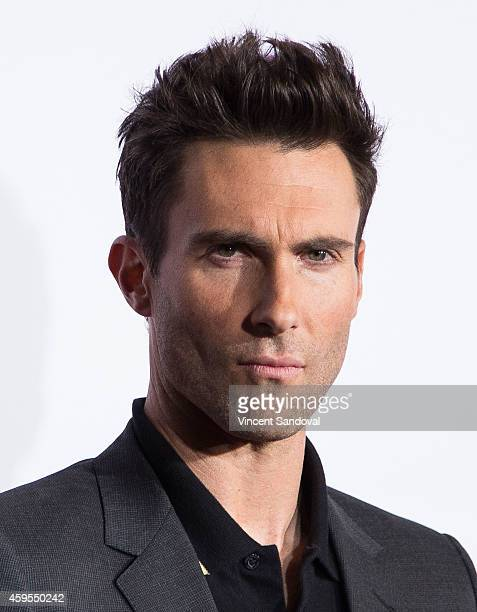 Singer Adam Levine attends NBC's The Voice season 7 red carpet event at Universal CityWalk on November 24 2014 in Universal City California