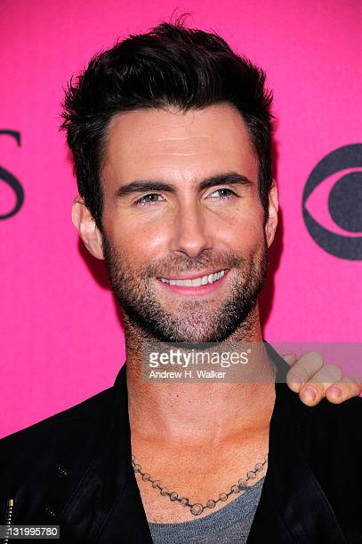 Singer Adam Levine attends the 2011 Victoria's Secret Fashion Show at the Lexington Avenue Armory on November 9, 2011 in New York City.