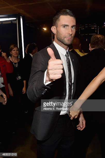 Singer Adam Levine attends The 57th Annual GRAMMY Awards at STAPLES Center on February 8 2015 in Los Angeles California