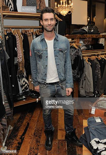 Singer Adam Levine attends the grand opening of M Fredric at Westfield Valencia Town Center on October 18 2011 in Valencia California