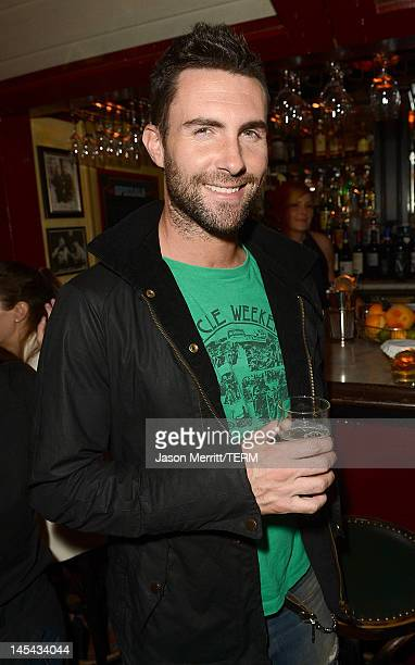 Singer Adam Levine celebrates the June/July Issue of Details Magazine held at Dominick's Restaurant on May 29 2012 in Los Angeles California