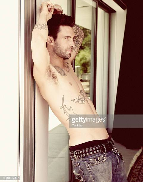 Singer Adam Levine is photographed for Out Magazine on July 1 2011 in Los Angeles California PUBLISHED IMAGE