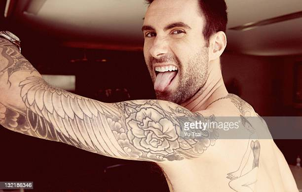Singer Adam Levine is photographed for Out Magazine on July 1 2011 in Los Angeles California