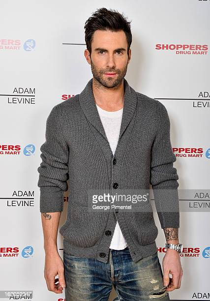 Singer Adam Levine Launches Signature Fragrances In Canada Exclusively For Shoppers Drug Mart at Soho Metropolitan Hotel on February 18 2013 in...