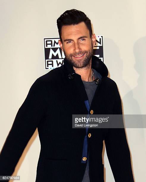 Singer Adam Levine of Maroon 5 attends the press room at the 2016 American Music Awards at the Microsoft Theater on November 20 2016 in Los Angeles...