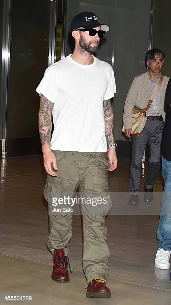 Singer Adam Levine of Maroon 5 is seen upon arrival at Narita International Airport on September 16 2014 in Narita Japan