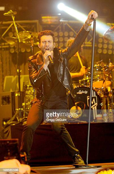 Singer Adam Levine of Maroon 5 performs at 102.7 KIIS FM's Wango Tango at The Home Depot Center on May 11, 2013 in Carson, California.