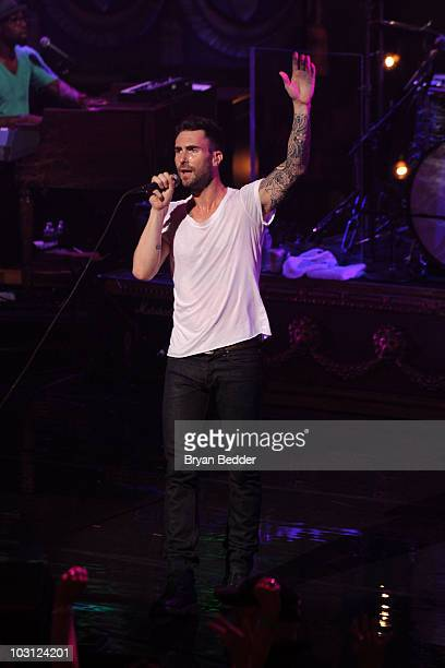 Singer Adam Levine of Maroon 5 performs at The Beacon Theatre on July 27 2010 in New York City