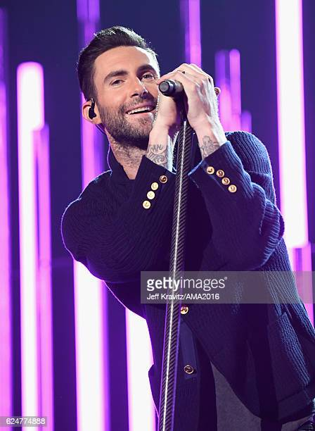 Singer Adam Levine of Maroon 5 performs onstage at the 2016 American Music Awards at Microsoft Theater on November 20 2016 in Los Angeles California