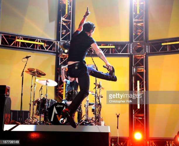 Singer Adam Levine of Maroon 5 performs onstage at The GRAMMY Nominations Concert Live held at Bridgestone Arena on December 5 2012 in Nashville...