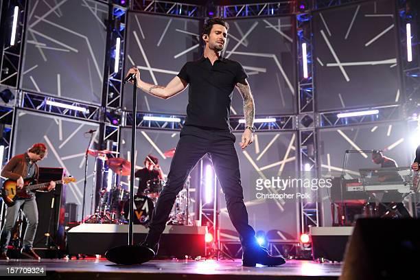 Singer Adam Levine of Maroon 5 performs onstage at The GRAMMY Nominations Concert Live held at Bridgestone Arena on December 5 2012 in Nashville...