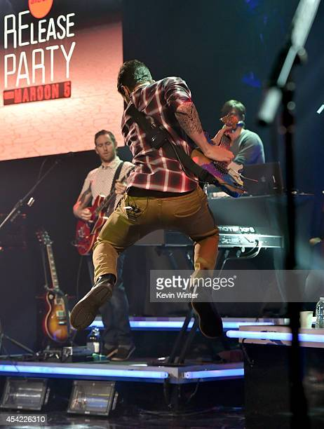 Singer Adam Levine of Maroon 5 performs onstage druing the iHeartRadio Album Release Party with Maroon 5 LIVE on the CW at iHeartRadio Theater on...