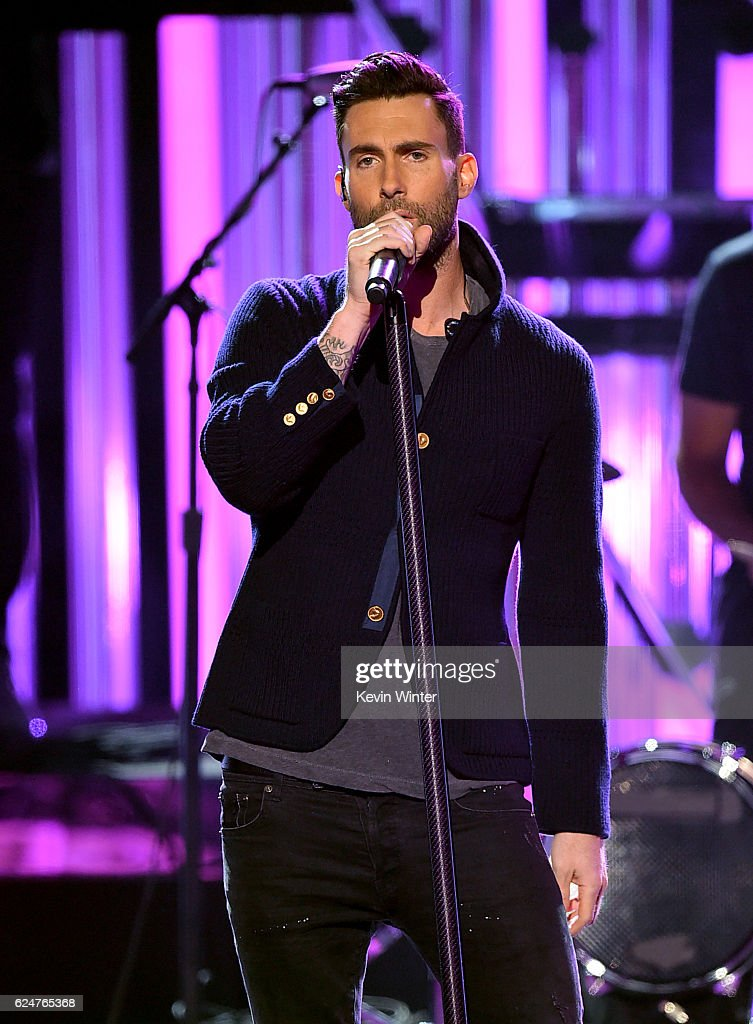 Singer Adam Levine of Maroon 5 performs onstage during the 2016 American Music Awards at Microsoft Theater on November 20, 2016 in Los Angeles, California.