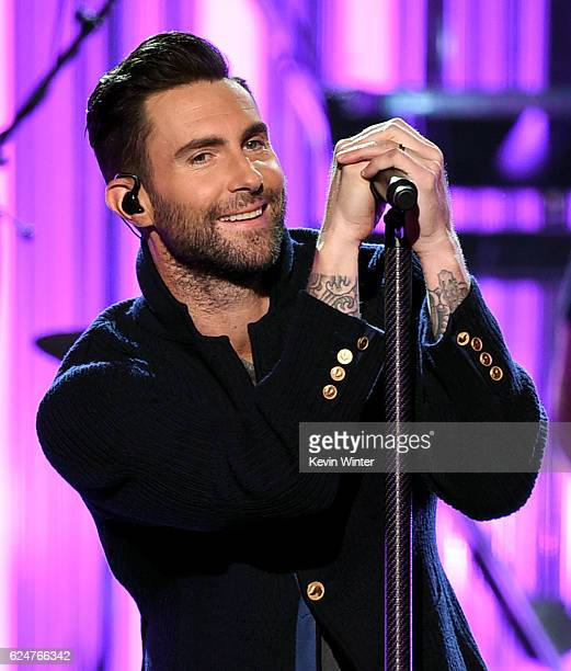 Singer Adam Levine of Maroon 5 performs onstage during the 2016 American Music Awards at Microsoft Theater on November 20, 2016 in Los Angeles,...