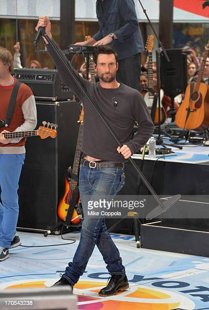 Singer Adam Levine of the band Maroon 5 performs on NBC's Today at the NBC's TODAY Show on June 14 2013 in New York New York