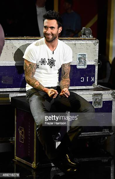 Singer Adam Levine onstage during A VERY GRAMMY CHRISTMAS at The Shrine Auditorium on November 18 2014 in Los Angeles California