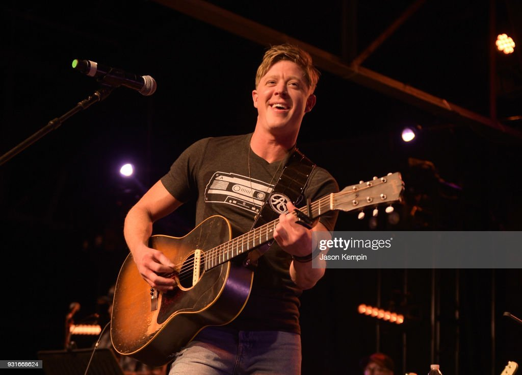 Singer Adam Sanders performs at Marathon Music Works on March 13, 2018 in Nashville, Tennessee.