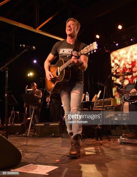 Singer Adam Sanders performs at Marathon Music Works on March 13 2018 in Nashville Tennessee