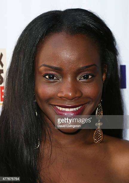 Singer Adanna Duru attends the Black AIDS Institute 2015 Heroes in the Struggle Gala Reception and Awards Ceremony at the Directors Guild of America...