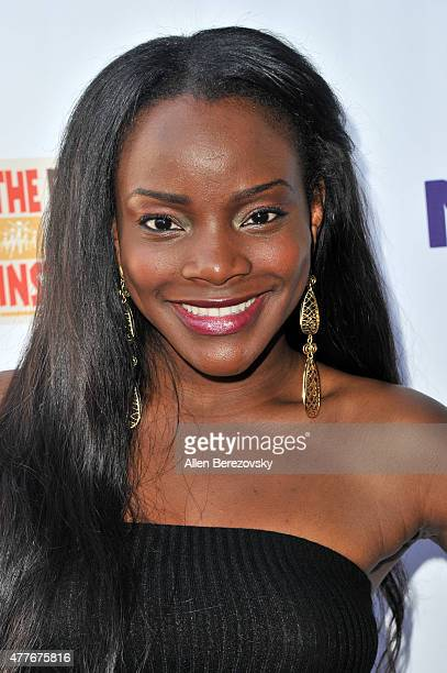 Singer Adanna Duru attends the Black AIDS Institute 2015 Heroes in the Struggle Reception Gala and Awards Ceremony at Directors Guild Of America on...