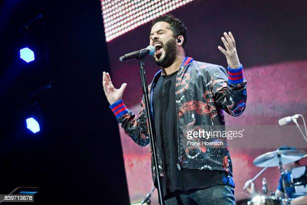 Singer Adel Tawil performs live on stage during the Festival Stars For Free at the Kindlbuehne Wuhlheide on August 26 2017 in Berlin Germany