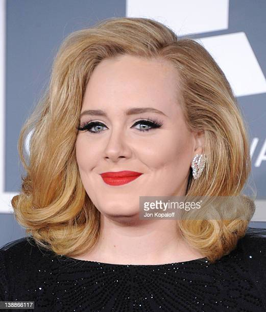 Singer Adele arrives at 54th Annual GRAMMY Awards held the at Staples Center on February 12 2012 in Los Angeles California