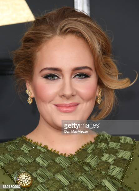 Singer Adele arrives at The 59th GRAMMY Awards at Staples Center on February 12 2017 in Los Angeles California