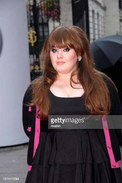 singer Adele arriving at Mercury Music Awards London 9th September 2008