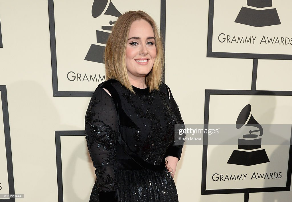 Singer Adele attends The 58th GRAMMY Awards at Staples Center on February 15, 2016 in Los Angeles, California.