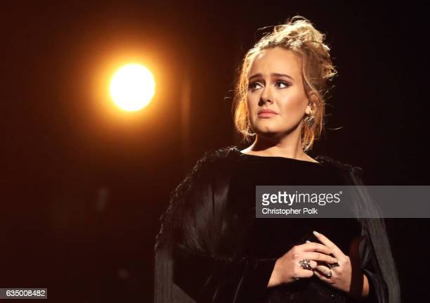 Singer Adele during The 59th GRAMMY Awards at STAPLES Center on February 12, 2017 in Los Angeles, California.