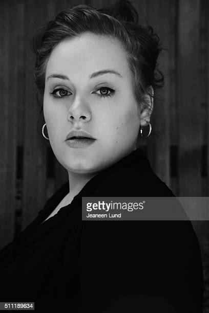 Singer Adele is photographed for Bust Magazine on May 21 2008 in Los Angeles California