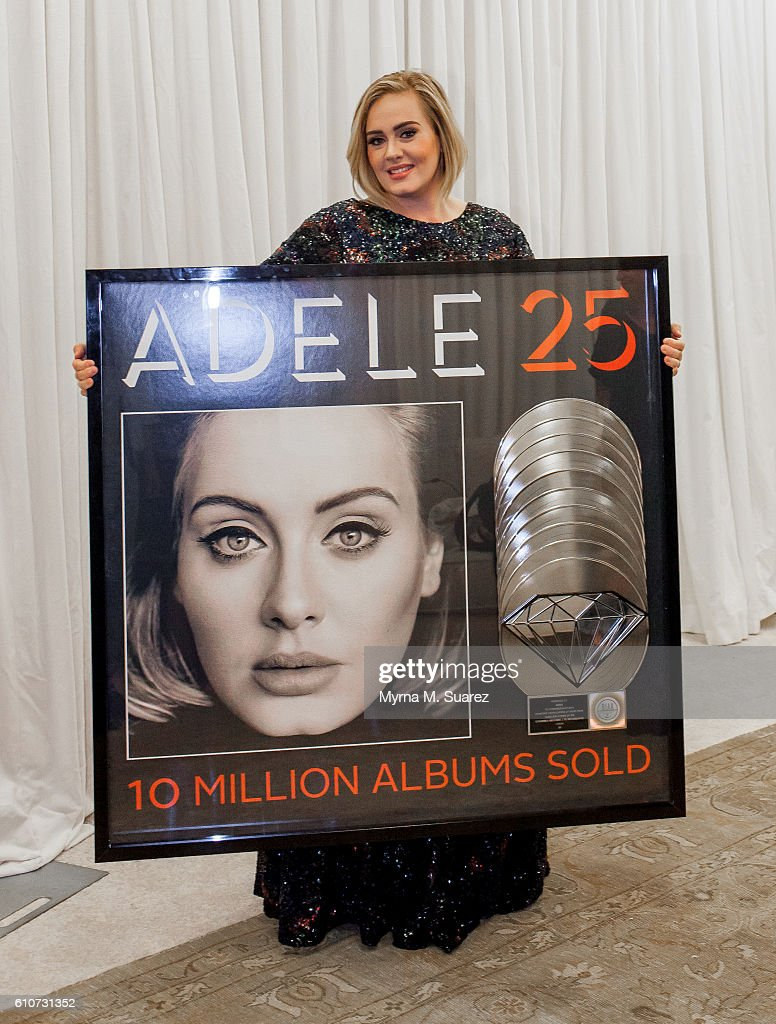 "Adele's Album ""25"" Goes 10-Times Platinum"