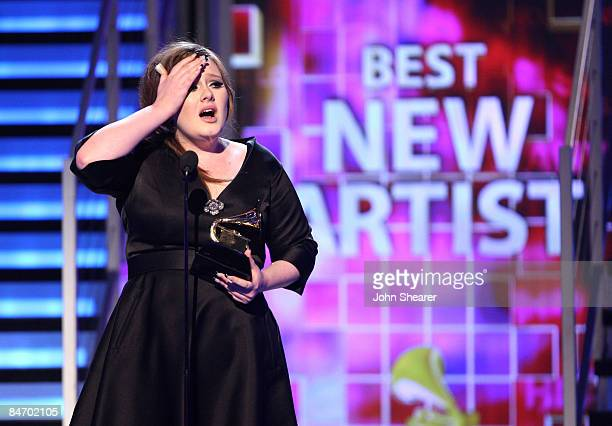 Singer Adele onstage at the 51st Annual GRAMMY Awards held at the Staples Center on February 8 2009 in Los Angeles California