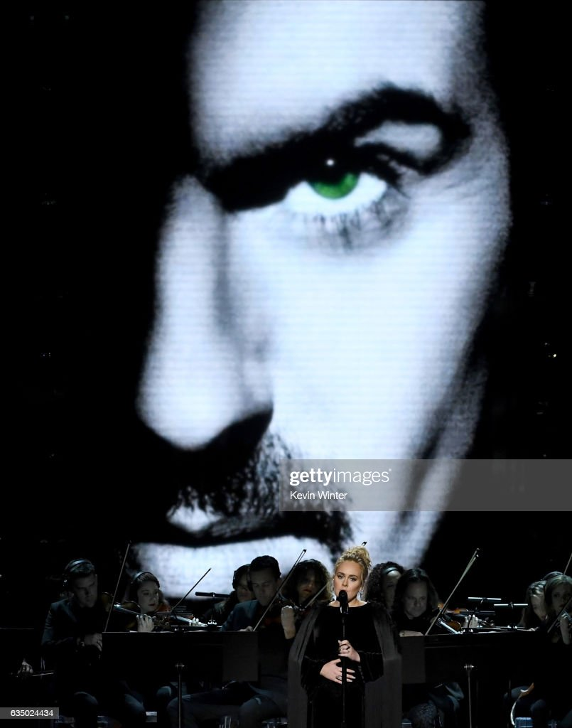 Singer Adele performs a tribute to George Michael during The 59th GRAMMY Awards at STAPLES Center on February 12, 2017 in Los Angeles, California.