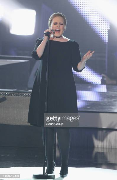 Singer Adele performs at the Echo Awards 2011 at Palais am Funkturm on March 24 2011 in Berlin Germany