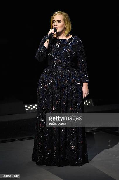 Singer Adele performs onstage at Madison Square Garden on September 19 2016 in New York City
