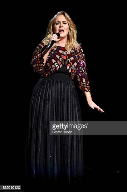 Singer Adele performs onstgage during The 59th GRAMMY Awards at STAPLES Center on February 12, 2017 in Los Angeles, California.